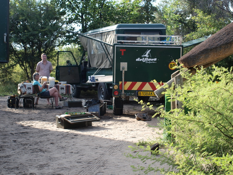 Our truck at Nata Lodge