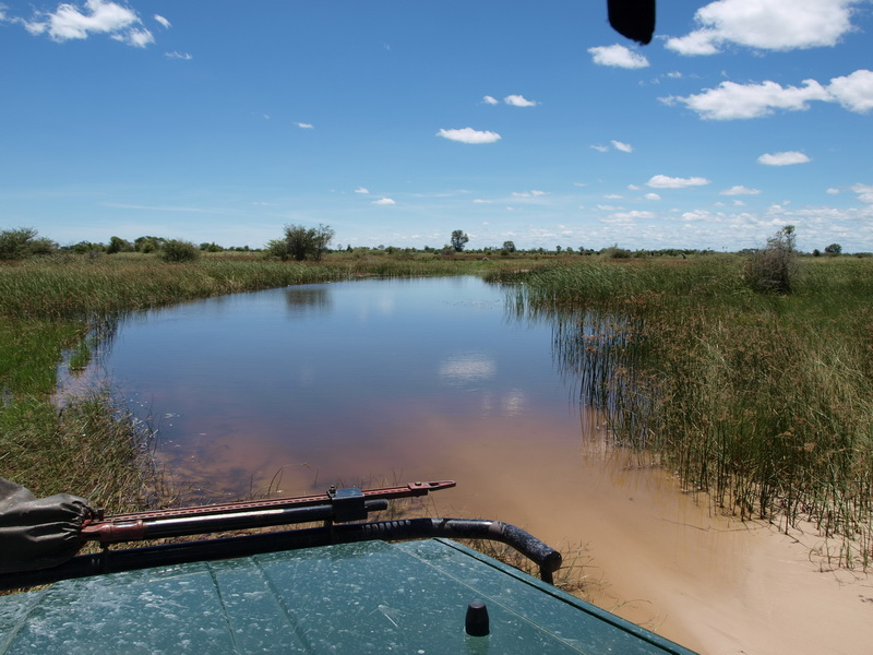 The road on the way in to the Okavango Delta