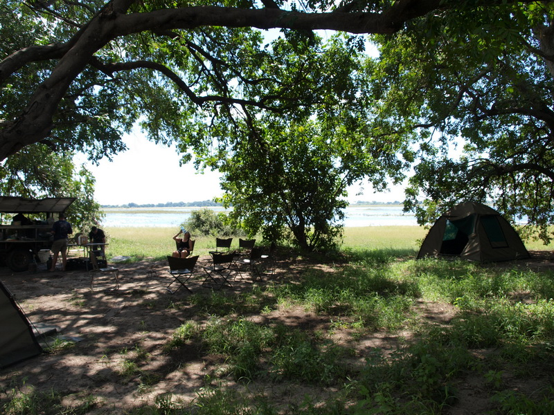 Our camp, Chobe National Park