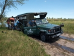 Stuck the first time in the Okavango Delta