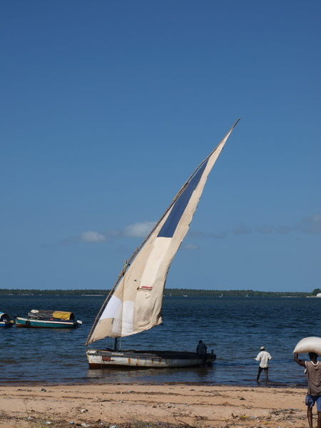 Our dhow from Maxixe to Inhambane