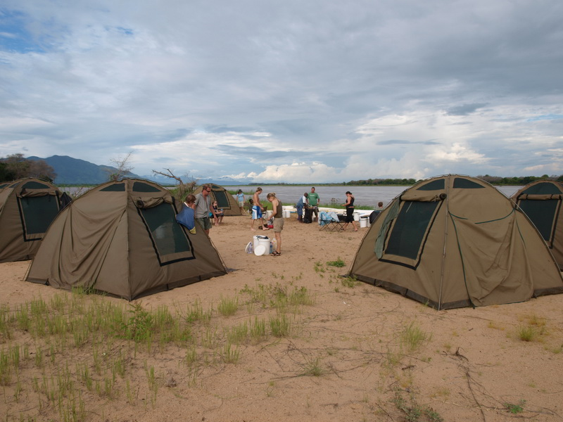 Camp on Elephant Bone Island, Zambezi River