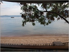 View from our tent, Fat Monkeys, Cape Maclear