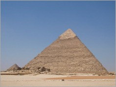 The second pyramid (Khafre's), Giza