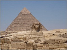 The Sphinx and Khafre's pyramid, Giza